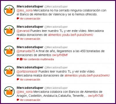 Mercadona y Twitter, Yovana Comins