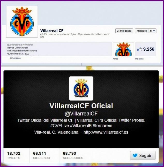 Villarreal CF Facebook y Twitter, Yovana Comins